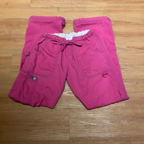 Women's hot pink Koi Scrub pants